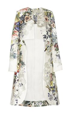 Botanical Print Evening Tunic - Monique Lhuillier Resort 2016 - Preorder now on Moda Operandi