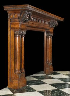 victorian fireplace mantel with mirror | Back Chimneypieces | Victorian | Stock No: 11645