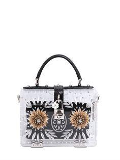 MINI DOLCE BOX METAL FLOWERS PERSPEX BAG