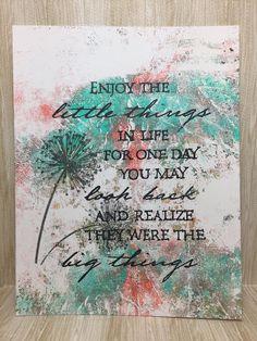 Enjoy the Little Things Card//Handmade Card