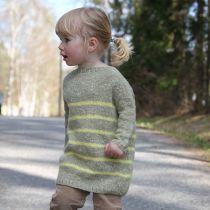 Frøken Seiler-genser - Nydelig strikk i tweed og angora