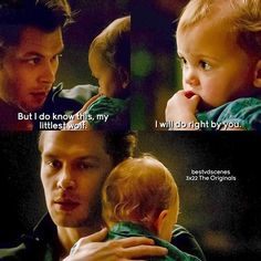 [3x22] Happy Father's Day everyone  I really love Klaus's relationship with hope. It's so nice to see him in another way.
