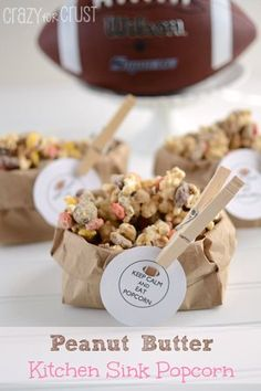 Peanut Butter Kitchen Sink Popcorn {A Football Party with Walgreens} - Crazy for Crust