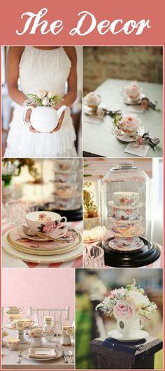 tea party bridal shower--LIKE LIKE LIKE!! I would love to wear a lace bridal shower dress!! Ahh!