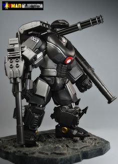 War Machine Battle Armor (Marvel Legends) Custom Action Figure by toymancustoms Base figure: HULK