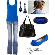 """Blue Budget Outfit"" by zionsmama on Polyvore"