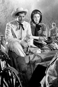 Clark Gable e Vivien Leigh em Gone with the Wind, 1939.