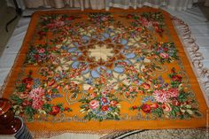 Купить павловопосадский платок ЦЫГАНКА АЗА вид 2 шаль сорт 3 - комбинированный