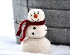 Schneemann-DIY-Kit - Nadel Filzen Kit - Schneemann Kit - Weihnachten-Kit - machen Sie Ihre eigenen - Weihnachten Dekoration - Bastelset - Weihnachten Handwerk