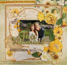 kaisercraft scrapbooking layouts using mountain air papers Scrapbook Journal, Scrapbook Page Layouts, Scrapbook Pages, Scrapbooking Ideas, Smash Book Pages, Crafty Craft, Crafting, Paper Roses, Scrapbooks