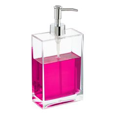 Rectangle Acrylic Soap Pump | The Container Store