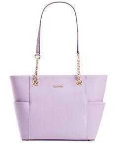 Calvin Klein Saffiano Leather Tote - Sale & Clearance - Handbags & Accessories - Macy's