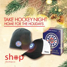 Broadcast on CBC TV since the early CBC has brought hockey home to millions of fans across Canada with Hockey Night in Canada. And now, you can bring hockey home with the perfect Hockey Night holiday gifts. Holiday Gifts, Hockey, Baseball Hats, Fans, Crochet Hats, Canada, Tv, Night, Shopping