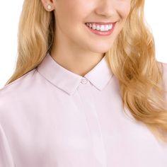 fb260e9a2 Angelic Square Pierced Earrings, White, Rose gold plating Gold Plating, Pierced  Earrings,. Swarovski