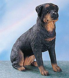 Sculpture: Rottweiler Dog - Collectible Statue Figurine Figure Puppy Sculpture