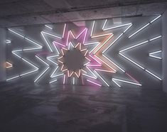 MARK HANDFORTH  Stardust, 2005  Fluorescent lights, fixtures, gels, 360 x 950 cm