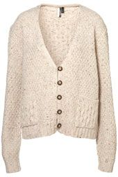 knitted chunky cable cardi top shop
