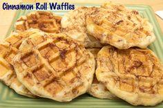 cinnamon rolls in the waffle iron!