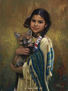 """Gentle Spirit"" ~ Native American Painting by Karen Noles"