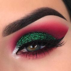 Patriotic make-up so that your eyes don't see any currents # fashionhijab . - Patriotic makeup so your eyes don't see currents # fashionhijab - Makeup Eye Looks, Eye Makeup Art, Cute Makeup, Makeup Inspo, Eyeshadow Makeup, Makeup Inspiration, Makeup Ideas, Makeup Box, Awesome Makeup