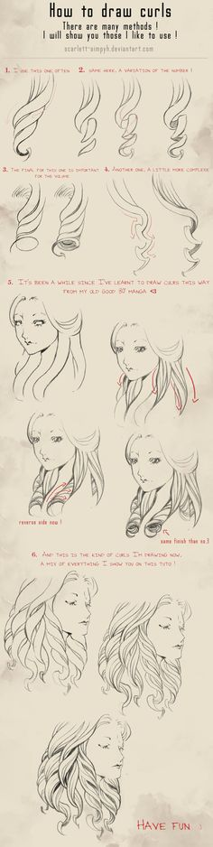 114 - How to draw curls by Scarlett-Aimpyh.deviantart.com on @deviantART