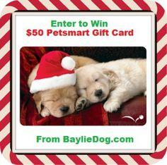 Enter to #Win a $50 Petsmart Gift Card Bundle From @BaylieDog | BaylieDog.com www.Facebook.com/BaylieDog