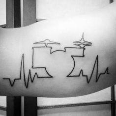 Resultado de imagem para drums tattoo