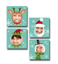 Azulejo Rostos - 15 x 15cm  :: Vários Layouts disponíveis para colocar todos os elementos da família  Sugestões :: Pendure na época natalícia   um azulejo com a família toda! - http://www.fotosport.pt/gca/coleccoes/natal/decoracao
