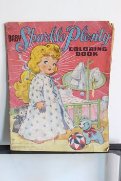 ''Baby Sparkle Plenty Coloring Book'' Saalfield 1948 by louloumint on Etsy