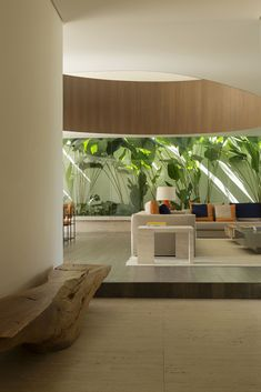 Galeria de Casa MD / Studio Arthur Casas - 8 Exterior Design, Interior And Exterior, Studio Arthur Casas, Natural Wood Flooring, Tropical Houses, Sliding Glass Door, Winter Garden, Native Plants, Home Projects