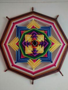 Mandala en lana, 1metro