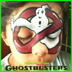 Face painting Ghostbusters Ghostbusters Fancy Dress, Ghostbusters Party, Balloon Painting, Body Painting, Halloween Games, Halloween Make Up, Face Painting Designs, Paint Designs, Mime Face Paint