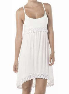 This romantic white dress will make you feel sexy and feminine, get it now! FEATURES Back longer than the front Round U neckline Exotic open back Comfortable fit White dress Long length SIZE Small, Medium Beach Dresses, Summer Dresses, White Fitted Dress, Cover Up, Feminine, Neckline, Dresses 2016, Dress Long, Sexy