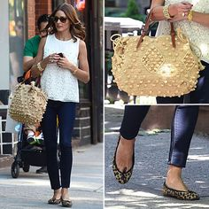Perfect, casual summer outfit... Olivia Palermo in white top and jeans in NYC