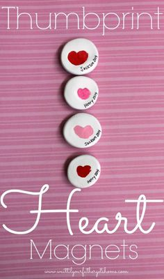 Congratulations: handmade gifts for grandparents for Valentine's Day - The Crazy Craft LadyThumbprint Heart Magnets - With these 9 gift ideas for grandparents Valentine's Day, Valentine's Day becomes a handmade and heartfelt experience. Give grandma Grandparents Day Crafts, Mothers Day Crafts, Valentine Day Crafts, Holiday Crafts, Valentine Crafts For Toddlers, Grandparent Gifts, Valentines Ideas For Babies, Husband Valentine, Printable Valentine