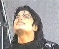 Michael Jackson - I don't think he likes the water much lol - click on picture for animation :)