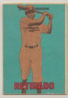 Dodgers Blue Heaven: Jackie Robinson Baseball Card/Memorabilia Checklist - Part II - 1950's and Beyond    **  #184 - 1967 Topps Venezuelan Retirado