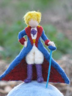 Little Prince Waldorf inspired Needle felted Little Prince