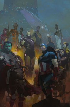 The Avengers cover by Esad Ribic (Penciller)