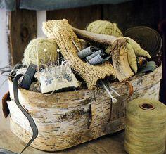 Birchbark sewing basket (ArtPropelled)
