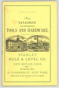 Stanley Rule level Co 1874 antique & vintage tool catalog reprint $9.99