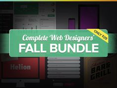 The Complete Web Designer's Fall Bundle - Over 700 Professionally Designed Assets, Templates, & UI Kits