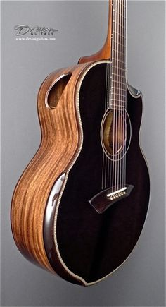 Fascinating side sound hole on a $6,000 Yong Blackie JJ guitar designed by Jeffrey Yong (born 1958). RESEARCH by DdO:) - http://www.pinterest.com/DianaDeeOsborne/instruments-for-joy/ - Yong is an award winning Malaysian Luthier best known for his use of local Malaysian wood such as Monkeypod, Rengas, & Malaysian Blackwood. He made his first guitar in 1985 from a do it yourself DIY kit. He also plays Harpguitar, Ukelele, Sapelele, Bass. Pin photo via deacondale