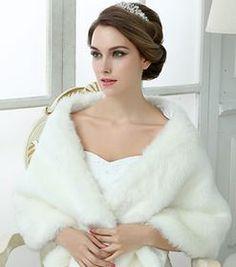 January Ivory Fur Wrap