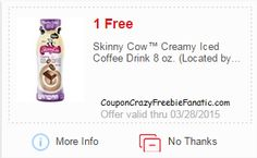 Hot New @meijerstores #mPerk Coupons! Including a #Free Skinny Cow™ Creamy Iced Coffee Drink 8 oz. #SkinnyCow  Plus clip the 10% off Your Total General Merchandise & 5% off Your Total Grocery & 5% off Your Total Apparel, Shoes, Jewelry, & Accessories ~ on CouponCrazyFreebieFanatic.com