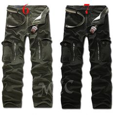 Casual loose camouflage multi pockets trousers long pants for men/79451