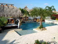 Corallock Photo Gallery of Beautiful Pools and Patios - Artistic Paver Mfg. Swimming Pool House, Swimming Pool Designs, Swimming Pools, Landscape Pavers, Pool Pavers, Pool Remodel, Beautiful Pools, Building A Deck, Outdoor Settings
