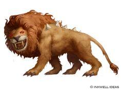 Inkwell Dire Lion by Quigleyer.deviantart.com on @DeviantArt