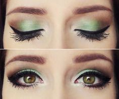 How to wear green eye shadow well