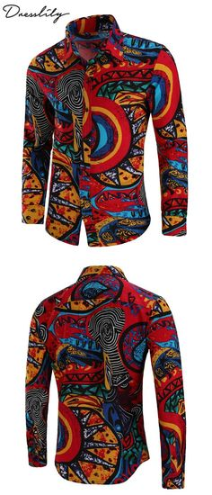 645e6c723f Casual Totem Print Long Sleeve Shirt.Extra 12% off code  DL123  dresslily   menfashion
